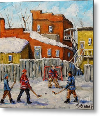 Back Lane Hockey Created By Prankearts Metal Print by Richard T Pranke
