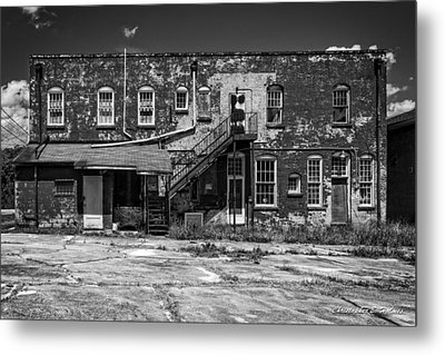 Back Lot - Bw Metal Print by Christopher Holmes
