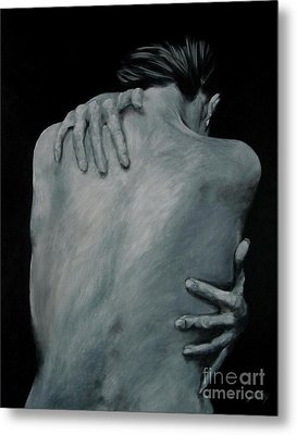 Back Of Naked Woman Metal Print by Jindra Noewi