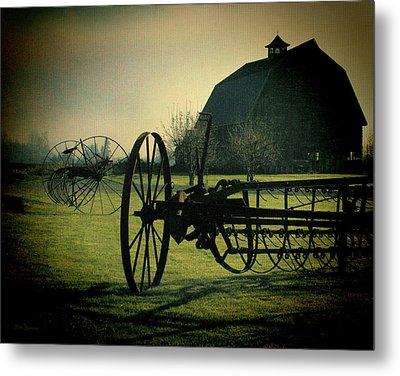 Back On The Farm Metal Print by DMSprouse Art