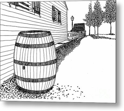 Back Street Of Williamsburg Virginia's Restored Colonial District Metal Print by Dawn Boyer