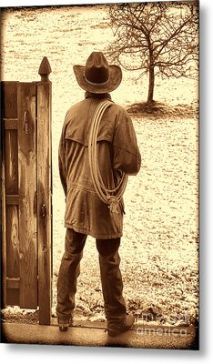 Back To Work Metal Print by American West Legend By Olivier Le Queinec