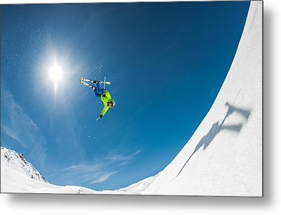 Backcountry Backflip Metal Print by Eric Verbiest