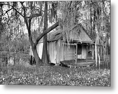Backdoor Fishing Metal Print by Jan Amiss Photography