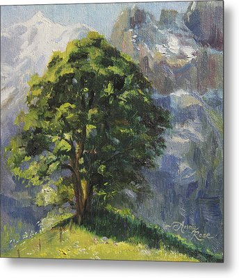 Backdrop Of Grandeur Plein Air Study Metal Print by Anna Rose Bain