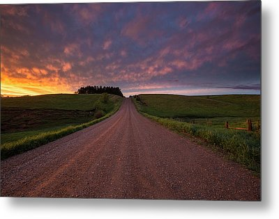 Metal Print featuring the photograph Backroad To Heaven  by Aaron J Groen