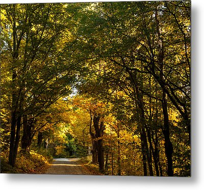 Backroads Of New England Metal Print