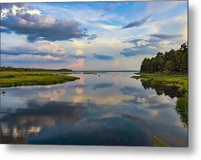 Backwater Sunset Metal Print