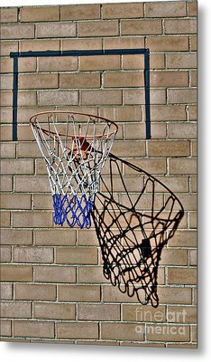 Metal Print featuring the photograph Backyard Basketball by Stephen Mitchell