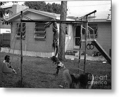 Backyard Swing Set..... Metal Print by WaLdEmAr BoRrErO