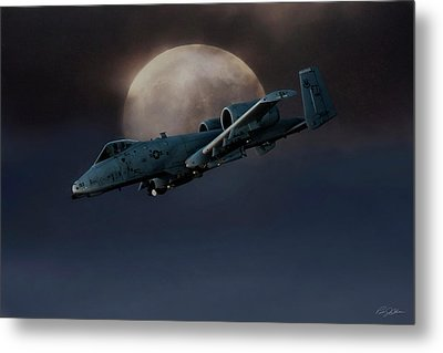 Metal Print featuring the digital art Bad Moon by Peter Chilelli