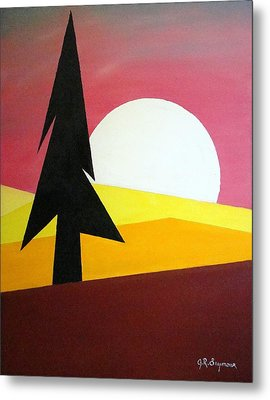 Metal Print featuring the painting Bad Moon Rising by J R Seymour