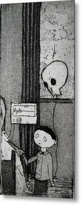 Metal Print featuring the mixed media Bad News Balloon by Josean Rivera