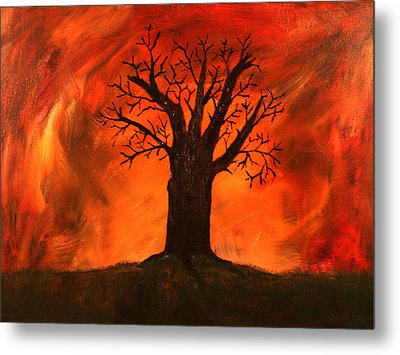 Bad Tree Metal Print by David Stasiak