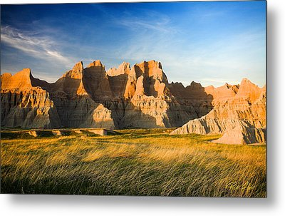 Metal Print featuring the photograph Badlands In Late Afternoon by Rikk Flohr