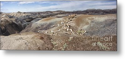 Metal Print featuring the photograph Badlands In Petrified Forest by Melany Sarafis