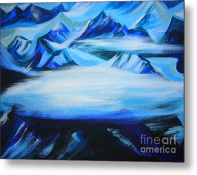 Metal Print featuring the painting Baffin Island by Anna  Duyunova
