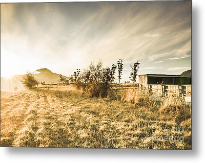 Bagdad Crisp Winter Countryside Metal Print by Jorgo Photography - Wall Art Gallery
