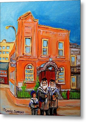 Bagg Street Synagogue Sabbath Metal Print by Carole Spandau