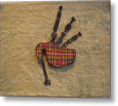 Bagpipes Balsa Metal Print by Paul Knotter
