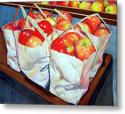 Bags Of Apples Metal Print