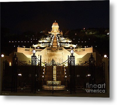 Bahai Shrine At Haifa - Israel Metal Print