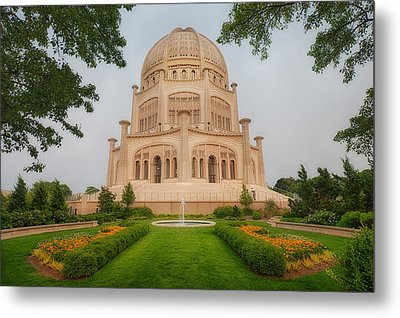 Baha'i Temple - Wilmette - Illinois Metal Print by Photography  By Sai