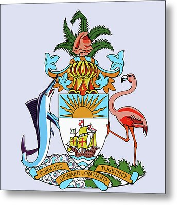 Bahamas Coat Of Arms Metal Print by Movie Poster Prints