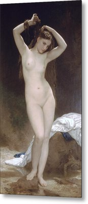 Baigneuse Or Bather Metal Print by William-Adolphe Bouguereau