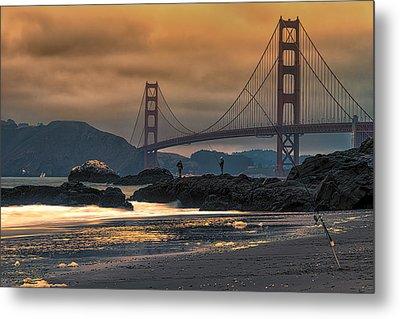 Baker Beach Golden Gate Metal Print