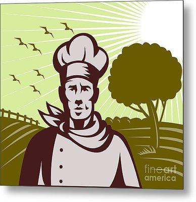 Baker Chef  Metal Print by Aloysius Patrimonio