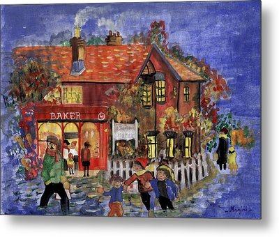 Bakers Inn Winter Holiday Landscape Metal Print