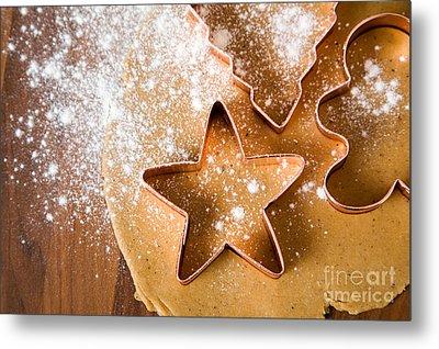 Baking Christmas Cookies Metal Print