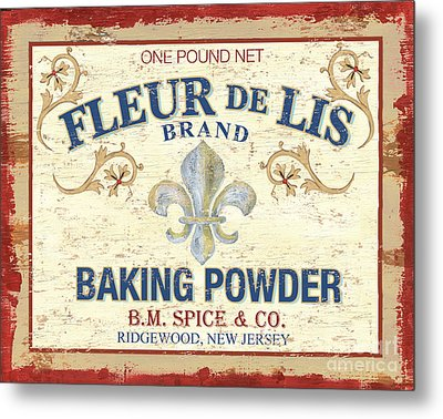 Baking Powder Fleur De Lis Metal Print by Debbie DeWitt