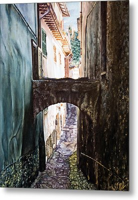 Balcony On The Arch Metal Print