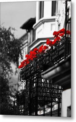 Balcony Roses Metal Print