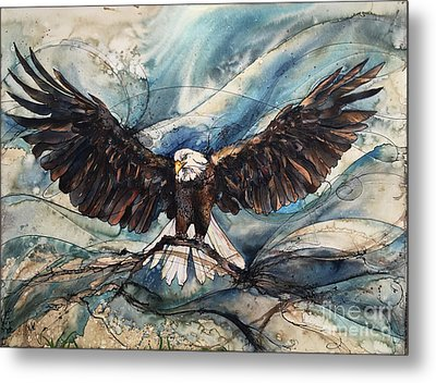 Metal Print featuring the painting Bald Eagle by Christy Freeman
