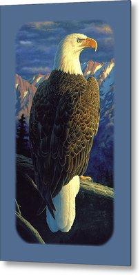 Bald Eagle Iphone Case Metal Print