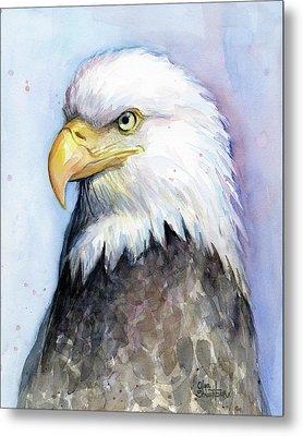 Bald Eagle Portrait Metal Print by Olga Shvartsur