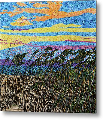 Bald Head Island, Sea Oat Sunset Metal Print by Micah Mullen
