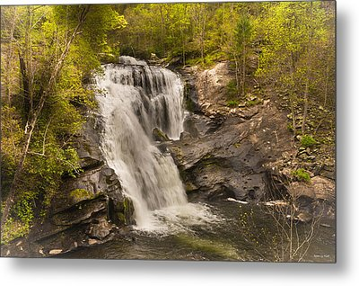 Bald River Falls Spring Metal Print by Rebecca Hiatt