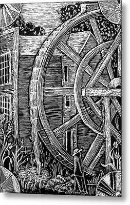 Bale Grist Mill Metal Print by Valera Ainsworth
