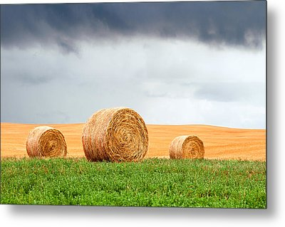 Bales And Layers Metal Print by Todd Klassy