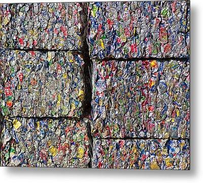 Bales Of Aluminum Cans Metal Print by David Buffington