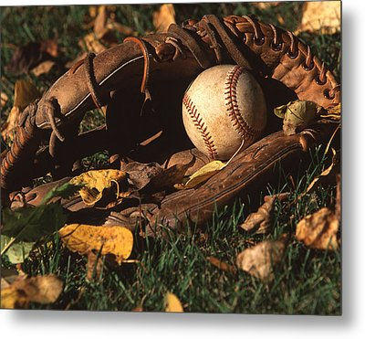 Ball And Glove Metal Print by Jack Dagley