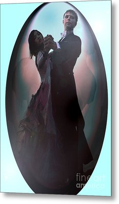 Metal Print featuring the painting Ball Room Dancer by Tbone Oliver