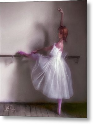 Metal Print featuring the photograph Ballerina-2 by Juan Carlos Ferro Duque