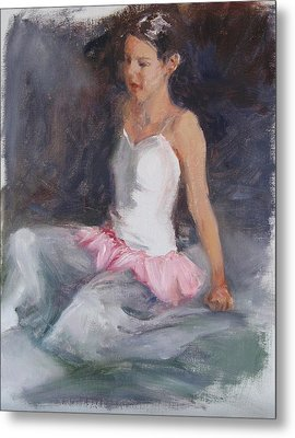 Ballerina At Rest Metal Print by Connie Schaertl