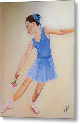 Ballerina Blue Metal Print by Joni M McPherson