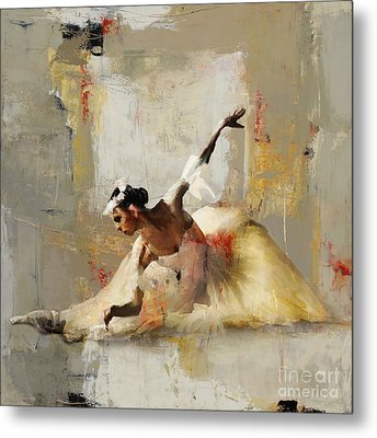 Ballerina Dance On The Floor 01 Metal Print by Gull G